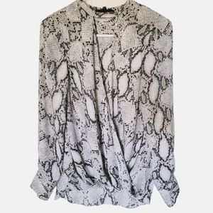 Olivaceous Snakeskin print blouse